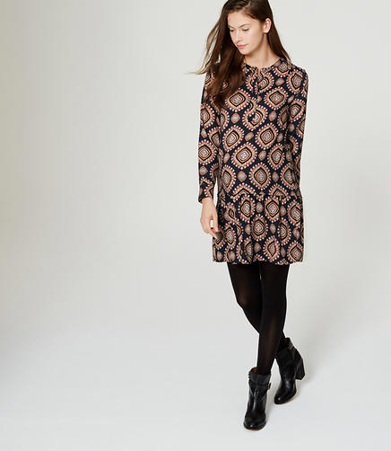 Image of Maternity Medallion Flippy Shirtdress