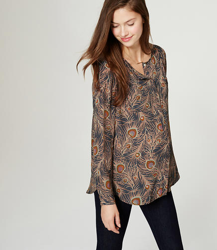 Image of Maternity Collarless Utility Blouse