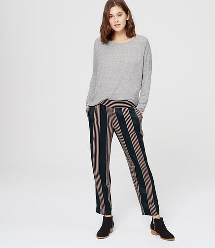 Image of Striped Fluid Joggers