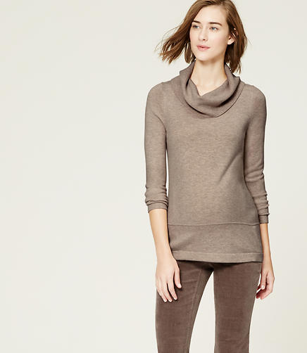 Image of Maternity Cowl Neck Sweater
