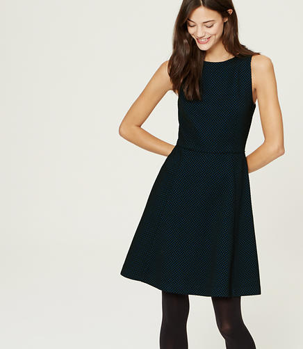 Image of Dot Flare Dress
