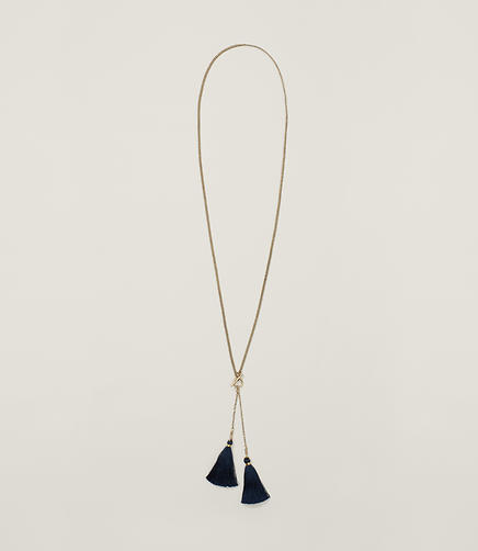 Image of Tasseled Toggle Necklace