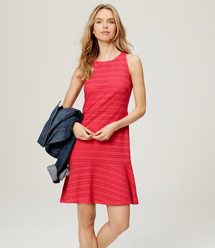Image of Eyelet Flounce Dress