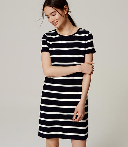 Image of Striped Ottoman Tee Dress