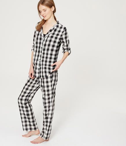 Image of Gingham Pajama Set