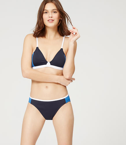 Image of LOFT Beach Colorblock Bikini Top
