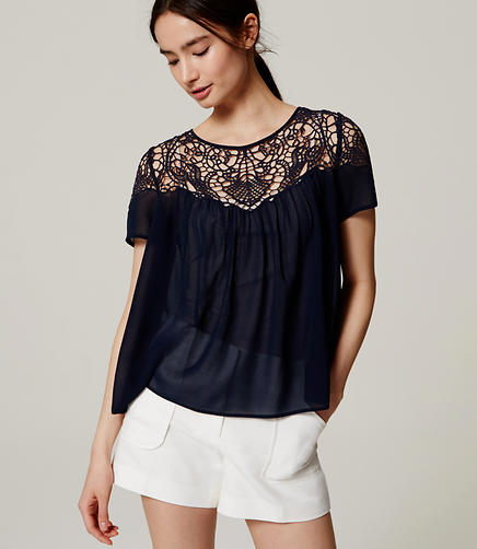 Image of Lacy Sheer Blouse