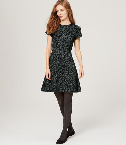 Image of Petite Leopard Flare Dress