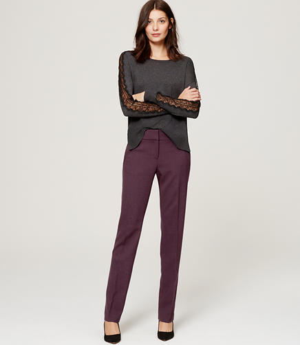 Image of Petite Scuba Straight Leg Pants in Julie Fit