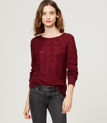 Image of Petite Striped Cable Sweater