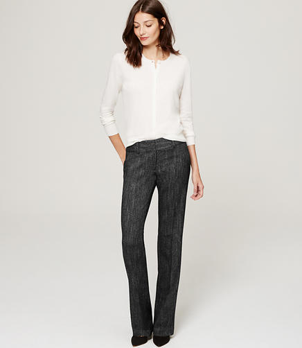 Image of Herringbone Trousers in Julie Fit with 31