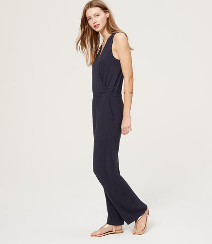 Image of LOFT Beach Wrap Jumpsuit