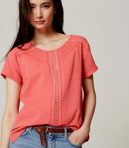Image of Eyelet Trim Tee