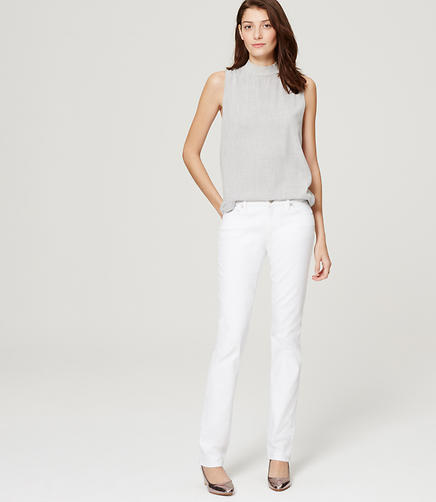 Image of Petite Curvy Straight Leg Jeans in White