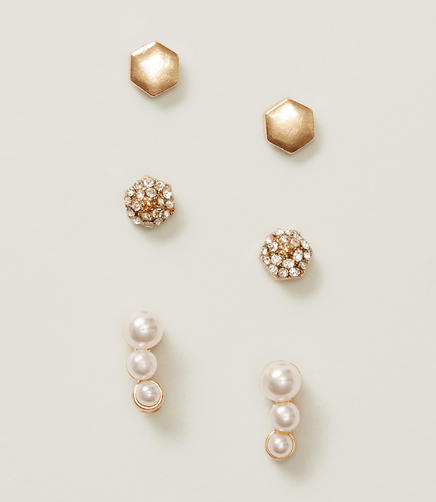 Image of Pearlized Stud Earring Set