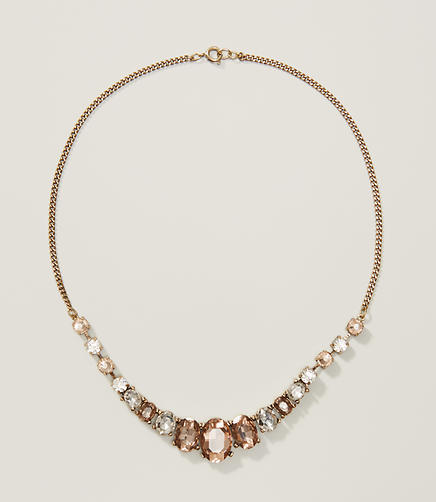 Image of Oval Crystal Necklace