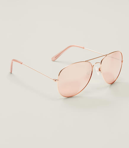 Image of Gilded Aviator Sunglasses