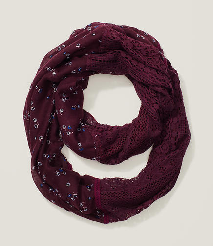 Image of Floral Lace Infinity Scarf