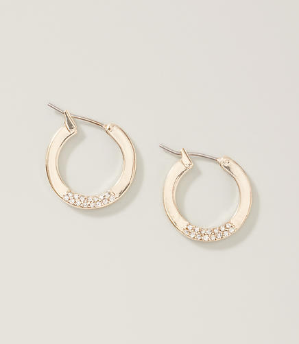Image of Pave Hoop Earrings