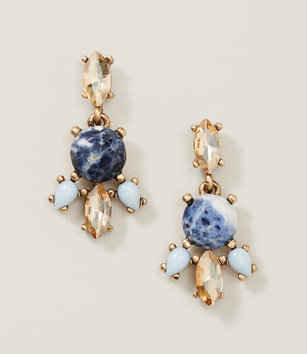 Image of Marbleized Chandelier Earrings