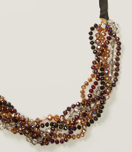Image of Beaded Ribbon Necklace