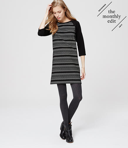 Image of Petite Fairisle Dress