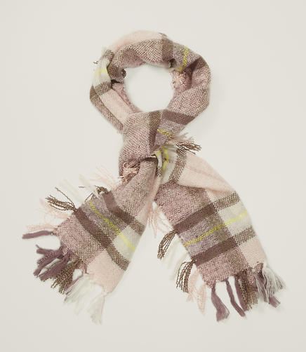 Image of Plaid Fringe Scarf