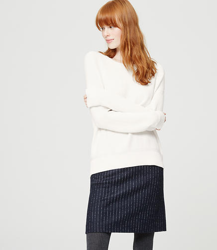 Image of Pointelle Sweatshirt Sweater
