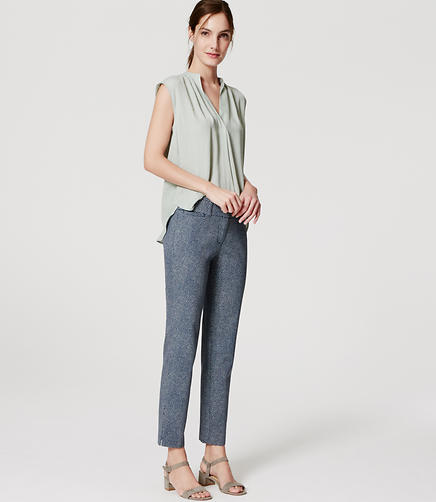Image of Flecked Riviera Cropped Pants in Marisa Fit