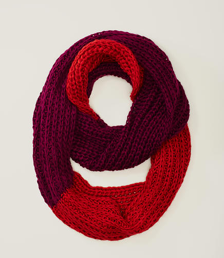 Image of Colorblock Infinity Scarf