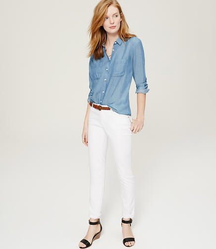 Image of Relaxed Skinny Jeans in White