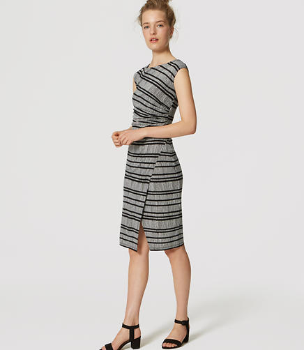 Image of Striped Wrap Dress