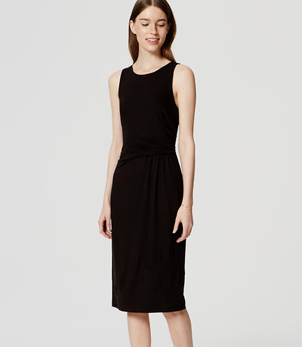 Image of Sleeveless Side Shirred Dress