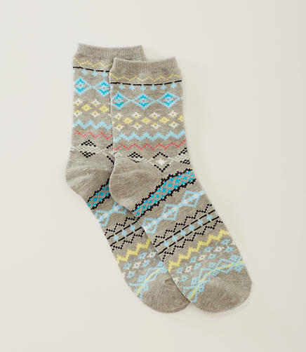 Image of Fairisle Crew Socks