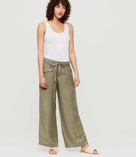 Image of Lou & Grey Brushed Linen Drawstring Pants