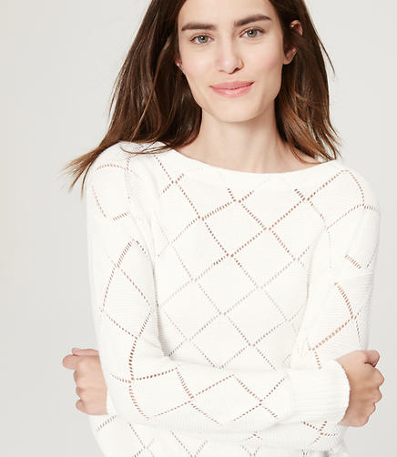 Image of Diamond Pointelle Sweater