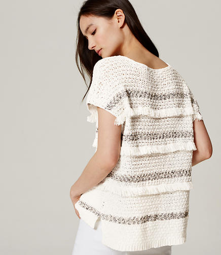 Image of Fringe Stripe Sweater