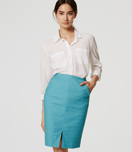 Image of Slit Pencil Skirt