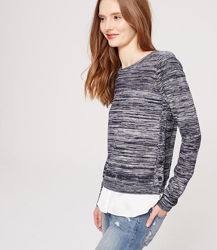 Image of Marled Two-In-One Sweater