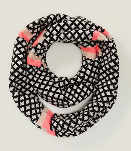 Image of Striped Diamond Infinity Scarf