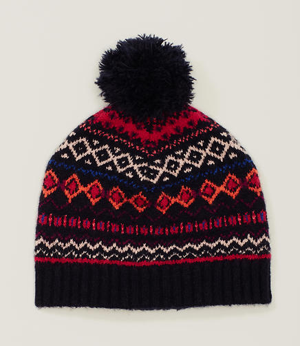Image of Fairisle Pom Pom Hat