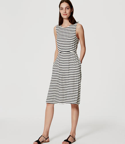 Image of Striped Cross Back Dress