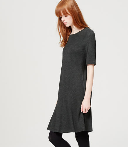 Image of Short Sleeve Trapeze Dress