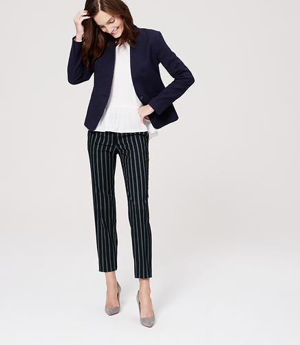 Image of Pinstripe Skinny Ankle Pants