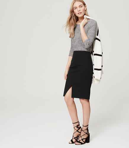 Image of Petite Wrap Custom Stretch Pencil Skirt