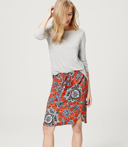 Image of Queen Paisley Drawstring Skirt