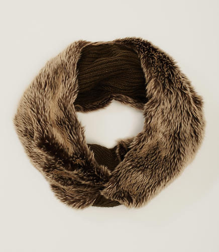 Image of Faux Fur Twist Popover Scarf