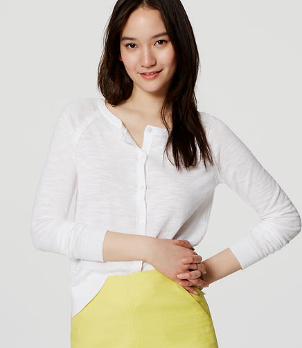 Image of Textured Cotton Cardigan