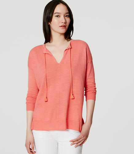 Image of Tasseled Tunic Sweater