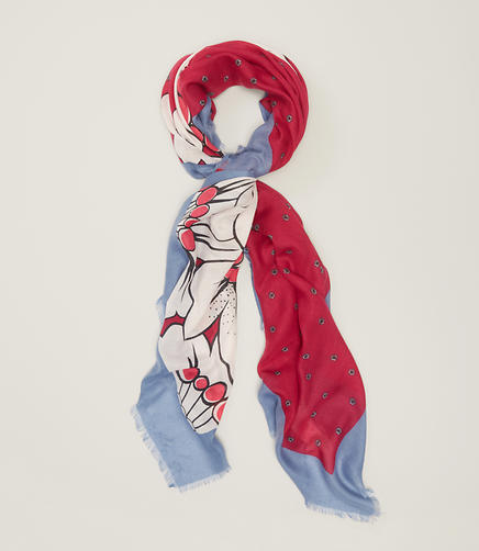 Image of Mixed Floral Scarf